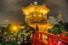 Golden Pavilion of Nan Lian Garden, Hong Kong Stock Photos