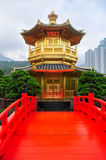 Golden Pavilion of Nan Lian Garden, Hong Kong Stock Photography