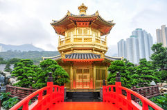 Golden Pavilion of Nan Lian Garden, Hong Kong Royalty Free Stock Images