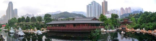 Golden Pavilion of Nan Lian Garden, Hong Kong Stock Photo