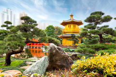 Golden Pavilion of Perfection, Hong Kong Stock Photography