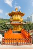 Golden Pavilion of Perfection in Nan Lian Garden, Hong Kong Royalty Free Stock Photos