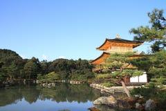 golden pavilion and pond of Kinkaku ji in Kyoto Royalty Free Stock Photos