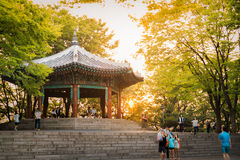 Golden Pavilion Of South Korea Stock Images
