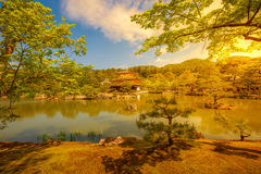 Golden Pavilion at sunset Royalty Free Stock Images