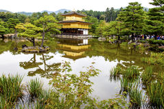 Golden Pavilion Temple and Gardens at Kyoto in Japa. Tourists visit the  Golden Pavilion Temple and Gardens at Kyoto in Japan Royalty Free Stock Photos