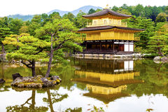 Golden Pavilion Temple and gardens. At Kyoto in Japan Stock Image