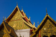 The golden pavilion Thai , Thai arts. Stock Image