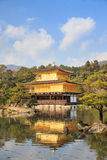 Golden Pavilion is a Zen temple in northern Kyoto whose top two Stock Photo