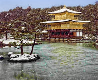 Golden pavillion Royalty Free Stock Image