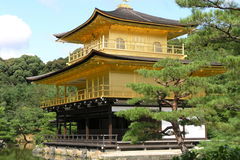 Golden pavillon kyoto Royalty Free Stock Photos