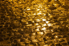 Golden paving Royalty Free Stock Image