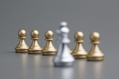 Golden Pawn chess Stock Image
