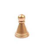 Golden pawn chess figure isolated Royalty Free Stock Photography