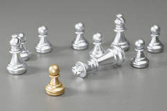 Golden Pawn chess Royalty Free Stock Photography