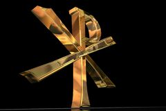 Golden Pax Christi cross Stock Image