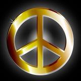Golden Peace Symbol Royalty Free Stock Photos