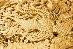 Golden peacock Stock Images