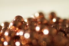 Golden pearls Stock Photography