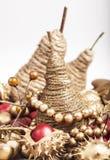 Golden pears Stock Photos