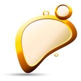 Golden Pebble Background Stock Photo