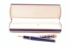 Golden pen Stock Image