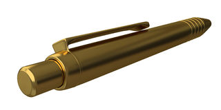 Golden pen Stock Image