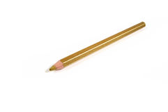 Golden pencil on a white background Stock Images