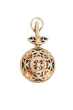 Golden pendant with enamel Stock Images