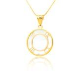 Golden pendant isolated on white. Background Stock Photos