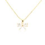 Golden pendant isolated on white. Background Royalty Free Stock Photo