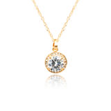 Golden pendant isolated on white. Background Stock Photo