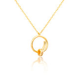 Golden pendant isolated on white. Background Stock Images