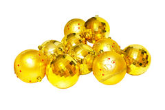 Golden pendants isolated Stock Photos
