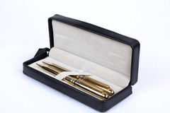 Golden Pens Set Stock Image