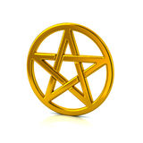 Golden pentacle Royalty Free Stock Image