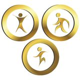 Golden people. Golden sport and commercial concept illustration Royalty Free Stock Image