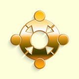 Golden People Reunion Logo. Royalty Free Stock Photography