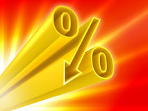 Golden percent discount Royalty Free Stock Image