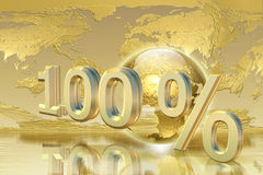 Golden percentage Royalty Free Stock Image