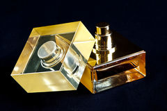 Golden Perfume bottle Royalty Free Stock Image