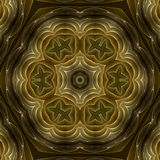 Golden petals mandala Stock Photo