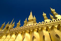 Golden Pha That Luang, Vientiane, Laos Stock Photo
