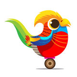 Golden Pheasant cute cartoon abstract royalty free stock photo