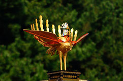 Golden phoenix on portable shrine at Jidai Matsuri parade, Japan. Royalty Free Stock Image