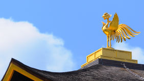 Golden Phoenix in top of Kinkakuji Pavilion Stock Images