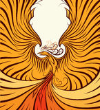 Golden Phoenix Stock Image