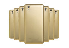 Golden phones Royalty Free Stock Photography