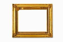 Golden photo frame Royalty Free Stock Images