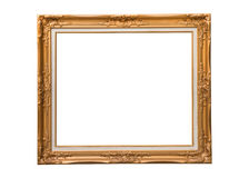 Golden photo frame Stock Images
